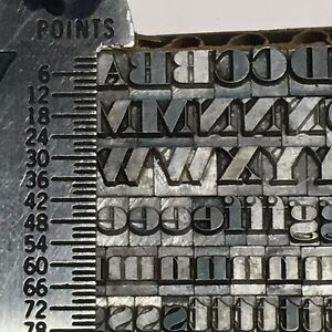 Ultra Bodoni 14 Pt Letterpress Type Printer s Metal Lead Printing Sorts