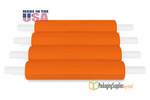 20 X 1000 Orange Extended Core Pallet Hand Wrap Packing Materials 80 Ga 28 Rls