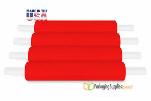 20 X 1000 Red Extended Core Pallet Hand Wrap Packing Materials 90 Ga 28 Rls