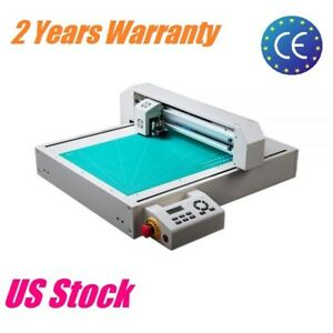 Us Stock 110v 17 7 X 24 Flat Bed Cutter Label Cutter For Paper Plastic