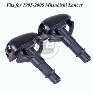 2 X Windshield Washer Wiper Water Spray Nozzle For 1995 2005 Mitsubishi Lancer