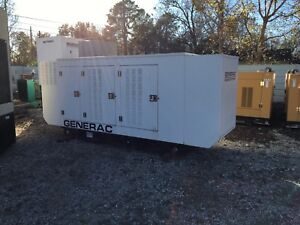 Generac 155kw Natural Gas Generator Set Sound Suppressed Only 100 Hours