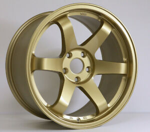 Rota Grid Wheels Gold 18x9 5 38 5x100 For Scion Tc 05 10 Wrx 02 14
