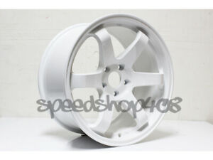 Rota Grid Wheels White 18x9 5 38 5x100 For Scion Tc 2005 10 Subaru Wrx 02 14