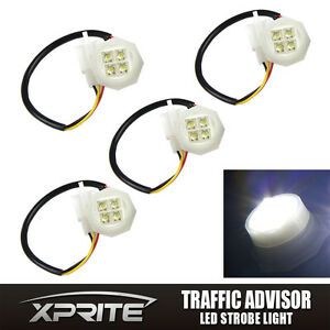 Xprite 4 White Led Hide A Way Flash Strobe Replacement Spare Headlight Bulbs