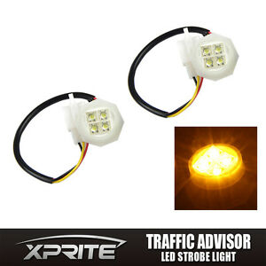 Xprite 2 Amber Led Hide A Way Flash Strobe Tube Replacement Spare Headlight Bulb