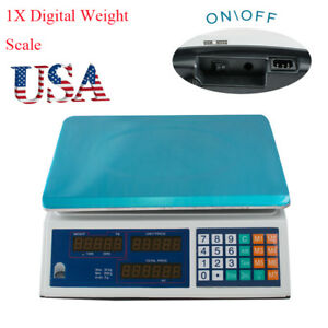 Usps Ship Digital Weight Scale 30kg Computing Food Meat Scale Produce Deli Easy
