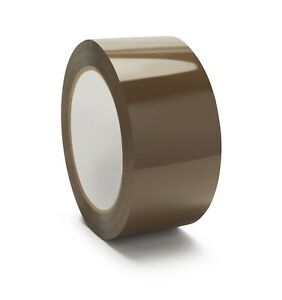 2 X 110 Yd Brown tan Carton Box Sealing Packing Shipping Tape 2 3 Mil 144 Rolls
