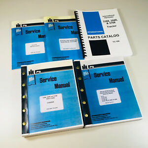 International 3388 3588 3788 Tractor Service Parts Manual Complete Shop Set Ih