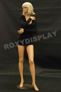 Female Fiberglass Mannequin Pretty Face Elegant Pose Dress From Display md fr9