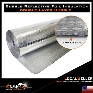 Double Bubble Radiant Barrier Insulation Foil Reflective 40 X 120ft 400 Sqft