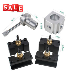 Compact 1x Mini Metal Quick Change Tool Post Holder Kit For Table Hobby Lathes