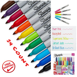 Sharpie Adult Coloring Book Markers Fine Point Permanent Marker 24 Set Pack New
