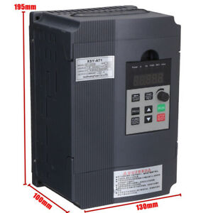 New 12a 2 2kw Single Phase Motor Speed Control Variable Frequency Drive Inverter