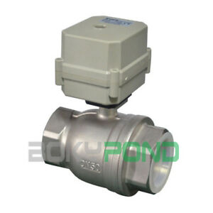 Npt 2 Motorized Ball Valve Dc 24v Electrical Valve stainless Steel cr3 03