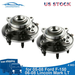 2 Front Wheel Hub Bearing Assembly For Ford F 150 2005 2008 W Abs 4wd 4x4
