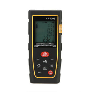 Professional 100m 328ft Digital Lcd Laser Distance Meter Range Finder Measure