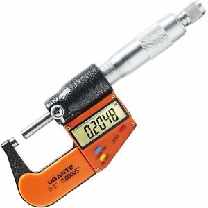 Ubante Digital Electronic Micrometer With Large Display Inch Metric 0 1