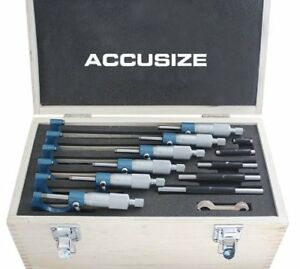 Accusizetools 0 150mm Precision M type Metric Outside Micrometer 6 Pcs set