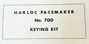 Harloc Pacemaker No 700 Keying Kit Vintage Locksmith Lock Key Service Set