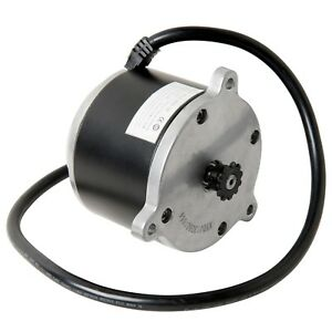 24 Volt 0 7 Hp Electric Motor W 11 Tooth 25 Chain Sprocket Currie Technologies
