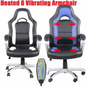 Home Office Computer Desk Massage Chair Executive Ergonomic Heated Vibrating Fg