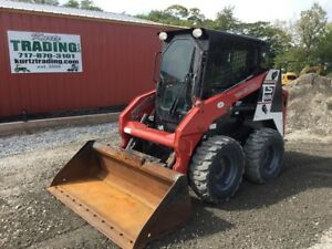 2014 Takeuchi Ts60r Skid Steer Loader W cab 2 Speed And Heat A c