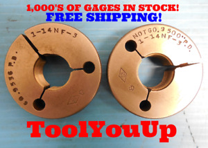1 14 Nf 3 Thread Ring Gages 1 00 Go No Go P d s 9536 9500 Inspection
