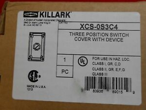 Killark Xcs 0s3c4 3 position Switch Cover With Device