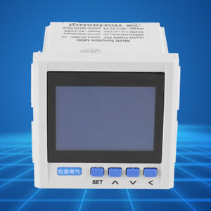 New Multifunction 3 phase Electric Current Voltage Power Meter V A Hz Kwh Rs485