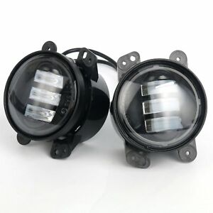Pair 4 Inch 30w Fog Light Led Front Bumper Lights For 2007 2017 Jeep Wrangler
