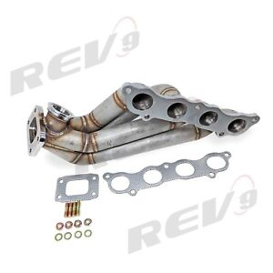 Rev9 Hp series Civic Rsx K20 Side Winder Equal Length T3 Flange Turbo Manifold