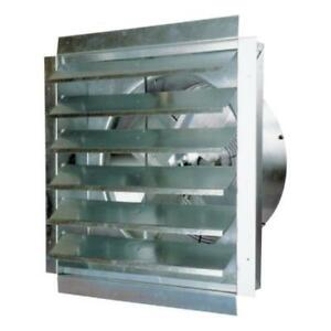 Maxxair 18 Blade Heavy duty Exhaust Fan With Integrated Shutter New