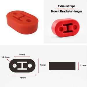 4 Pcs Red Rubber Bushings Hanger Kit For Universal Car Exhaust Muffler 11 5mm