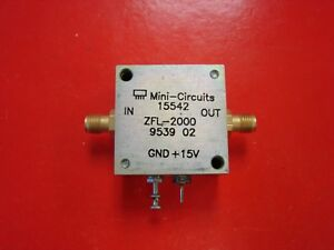 Mini circuits Zfl 2000 Medium Power 10 2000mhz Rf Amplifier See Test Plot