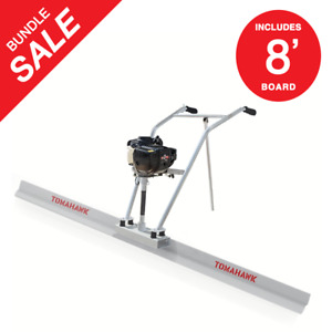 37 7cc 4 Stroke Gas Concrete Wet Screed Power Screed Cement 8ft Board