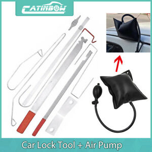Car Door Lock Out Emergency Open Unlock Key Tools Kit Black Air Pump Universal