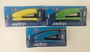 Bazic Standard 26 6 Stapler 500 Staples Included green blue yellow Color