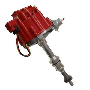For Ford 351c 351m 400 429 460 Hei Distributor 65kv Coil 7500 Rpm Module Red