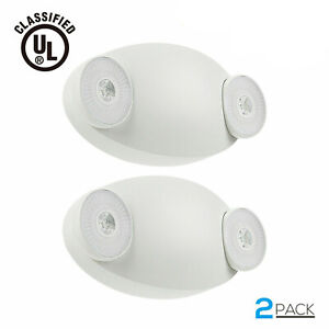 Led Emergency Light With Battery Backup Ul listed Adjustable Two Round Heads