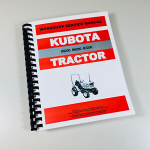 Kubota B7200 B7200e B7200d Tractor Service Repair Manual Technical Shop Book