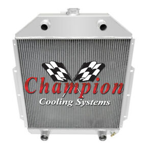 Champion Cooling 2 Row All Aluminum Radiator 1942 52 Ford Truck Flathead Con