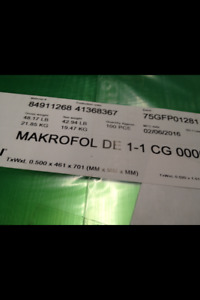 Clear Polycarbonate Sheet 100 Pcs 0 50x461x701 mm Makrofol De1 1 Lexan Compare