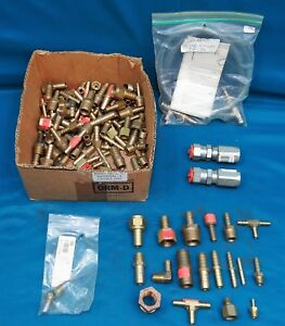 Lot Of Brass Hydralic Fitting Varios Sizes 8lb 13oz