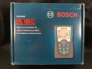 Bosch Dlr165 Rangefinder Digital Laser Measurement Measurer Tool 165 Feet Works