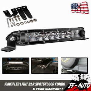 Single Row 10inch 3500lm Cree Led Work Light Bar Combo Offroad 11 12 10 Jeep