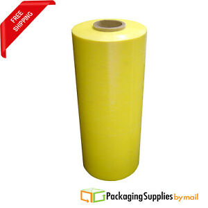 20 X 63ga 5000 Yellow Pallet Machine Wrap Plastic Stretch Shrink Film 3 Rolls