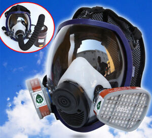15 In 1 Full Face Large Size Vision Dust Facepiece Respirator Spraying Gas Mask