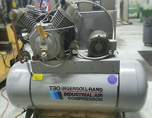 Ingersoll Rand T30 Industrial Air Compressor 3 phase 10hp Great Condition