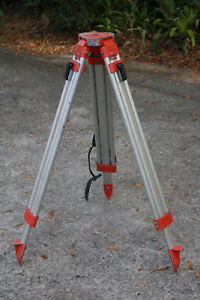 Aluminium Surveyors Survey Tripod Usa Made Simple Red Strong Laser Theo Steam